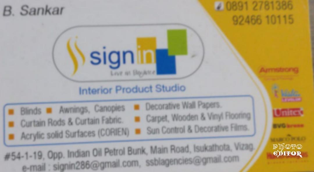 Signin interior designer
